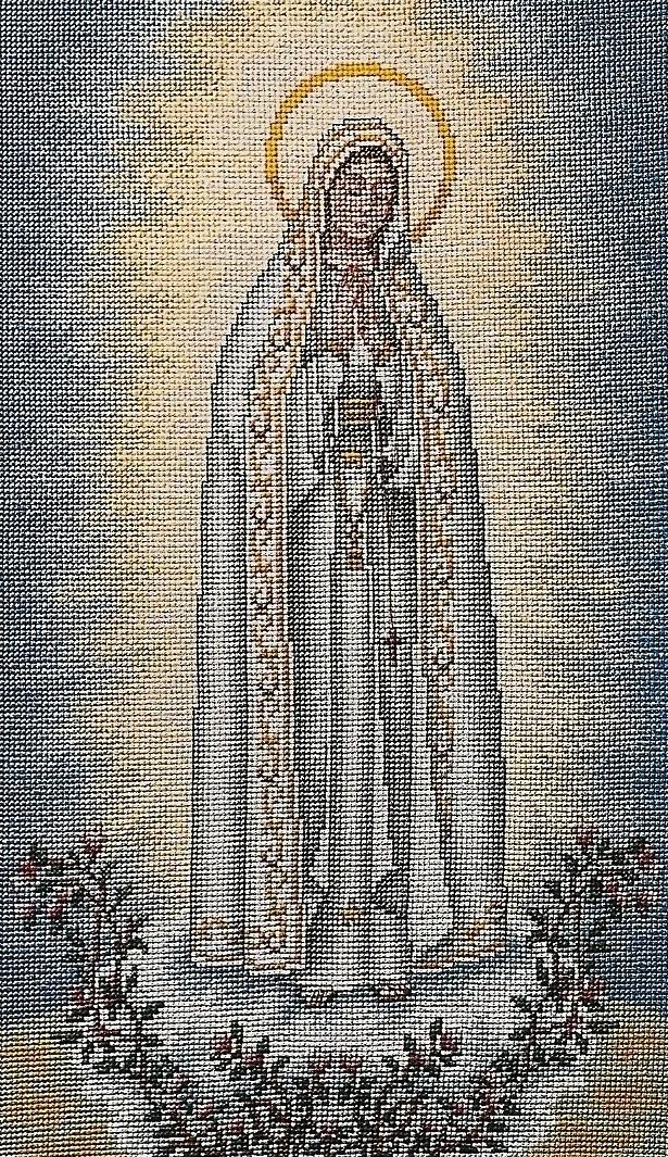 ec903ef7024 Virgen Milagrosa Punto De Cruz Religioso Punto De Cruz ...