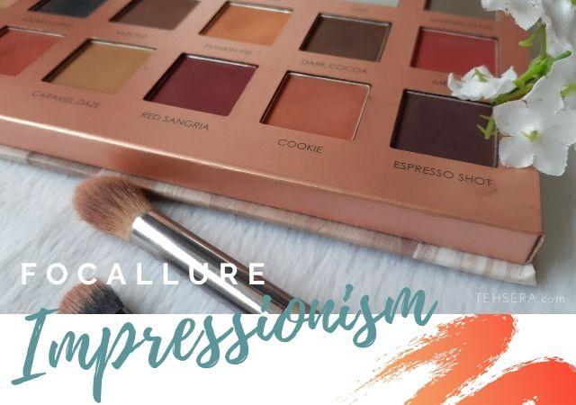 REVIEW Focallure Eyeshadow Impressionism Pallete 18 Warna