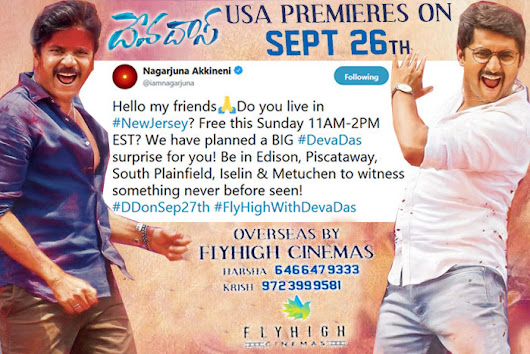 DEVADAS movie will FLY HIGH in New Jersey