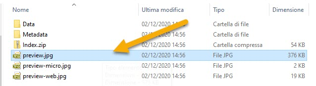 preview dei file pages