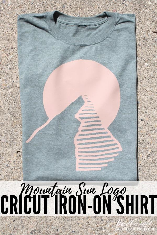 Make a cool shirt with a custom mountain logo design using the Cricut Maker.