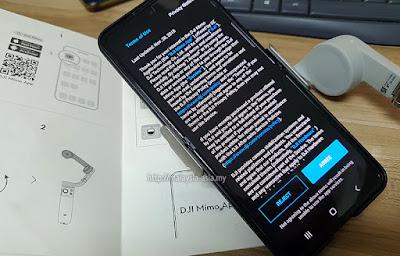 Installing DJI Mimo App