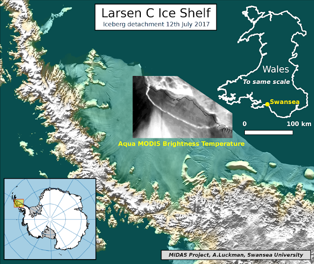 The one trillion ton iceberg: Larsen C Ice Shelf rift finally breaks through