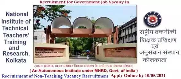 NITTTR Chandigarh Non-Teaching Vacancy Recruitment 2021
