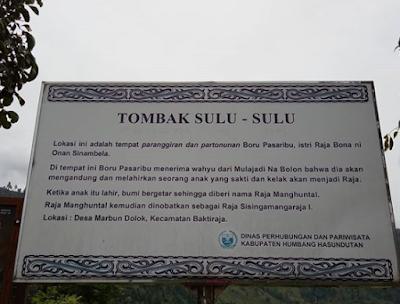 Tombak Sulu-Sulu, Wisata Situs Sejarah Kelahiran Sisingamangaraja I