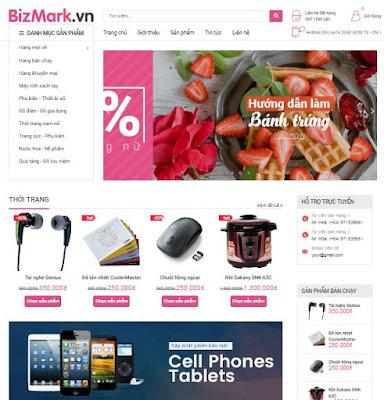 Giao diện blogspot bán hàng đẹp