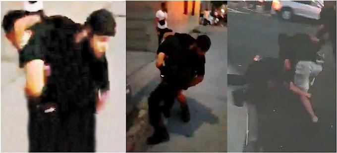VIDEO: Presunto pandillero dominicano intenta obstruir arresto de compañero y lucha cuerpo a cuerpo con sargento en calle de El Bronx