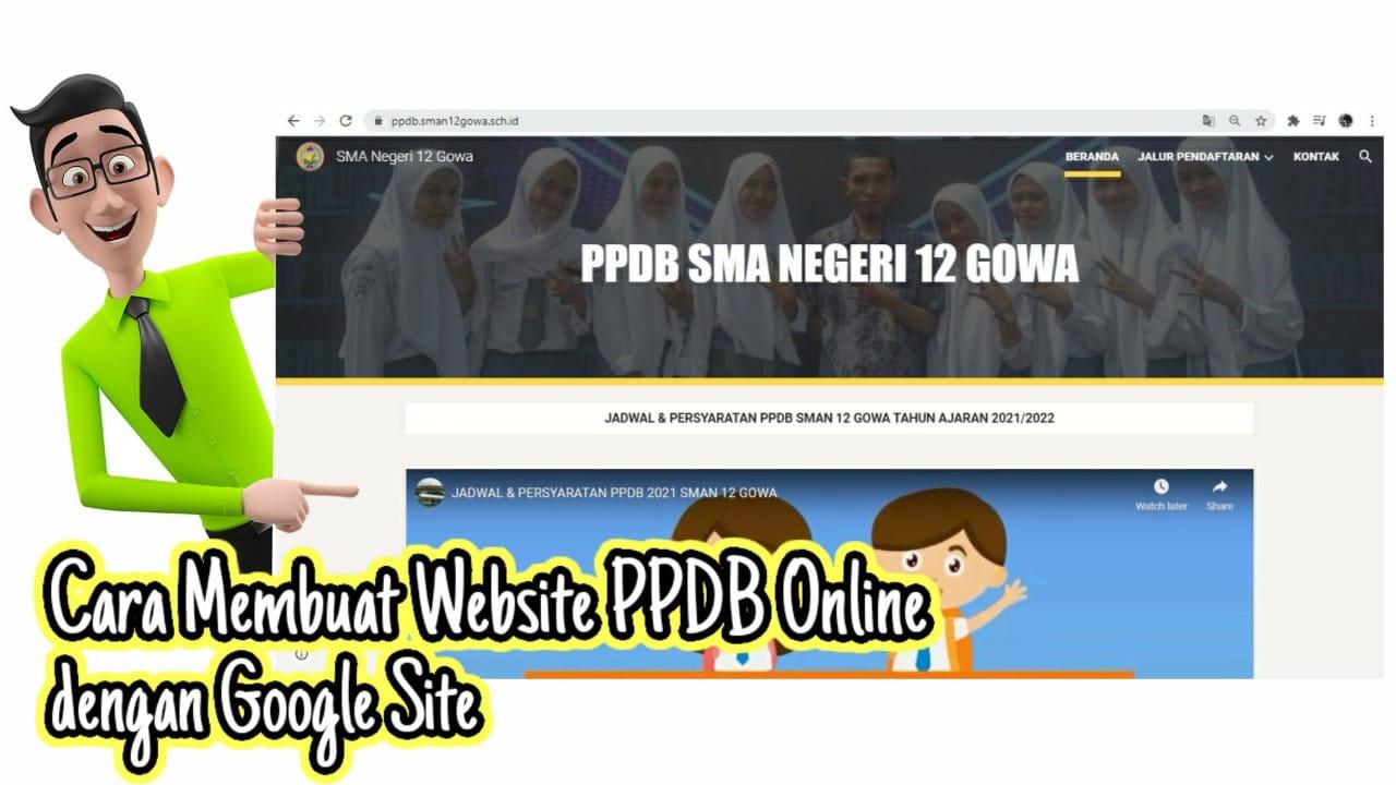 Cara Membuat Website PPDB Online dengan Google Site