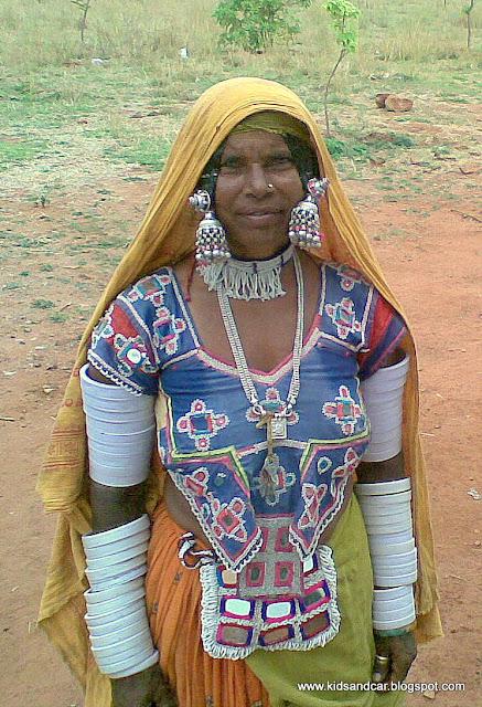 tribal women with jewelery