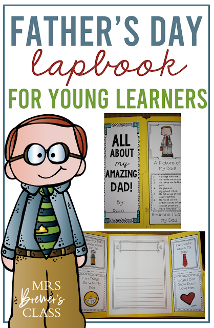 Cute Fathers Day gift- All About My Dad lapbook for Kindergarten and First Grade