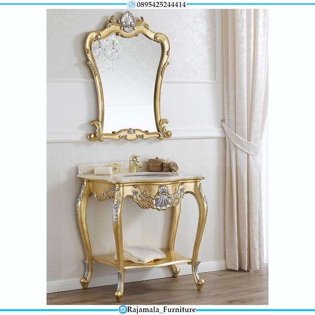 Best Seller Meja Konsul Cermin Hias Mewah Luxury Carving Terbaru RM-0526