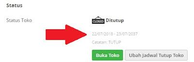 Tutup Toko Di Tokopedia