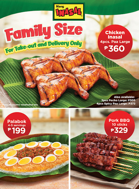 Mang Inasal favorites now come in Family Size