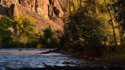 Wallpaper River, rocks, trees, landscape