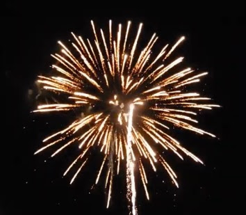 Some of the fireworks at the Workhouse Arts Center, Lorton, VA, June 29, 2019