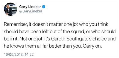 Gary Lineker Not One Jot