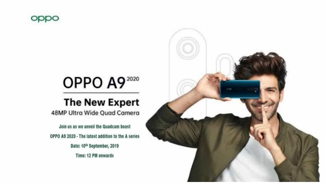 Oppo A9 2020 will be launched in India on 16 September, Oppo A9 2020 specification and price