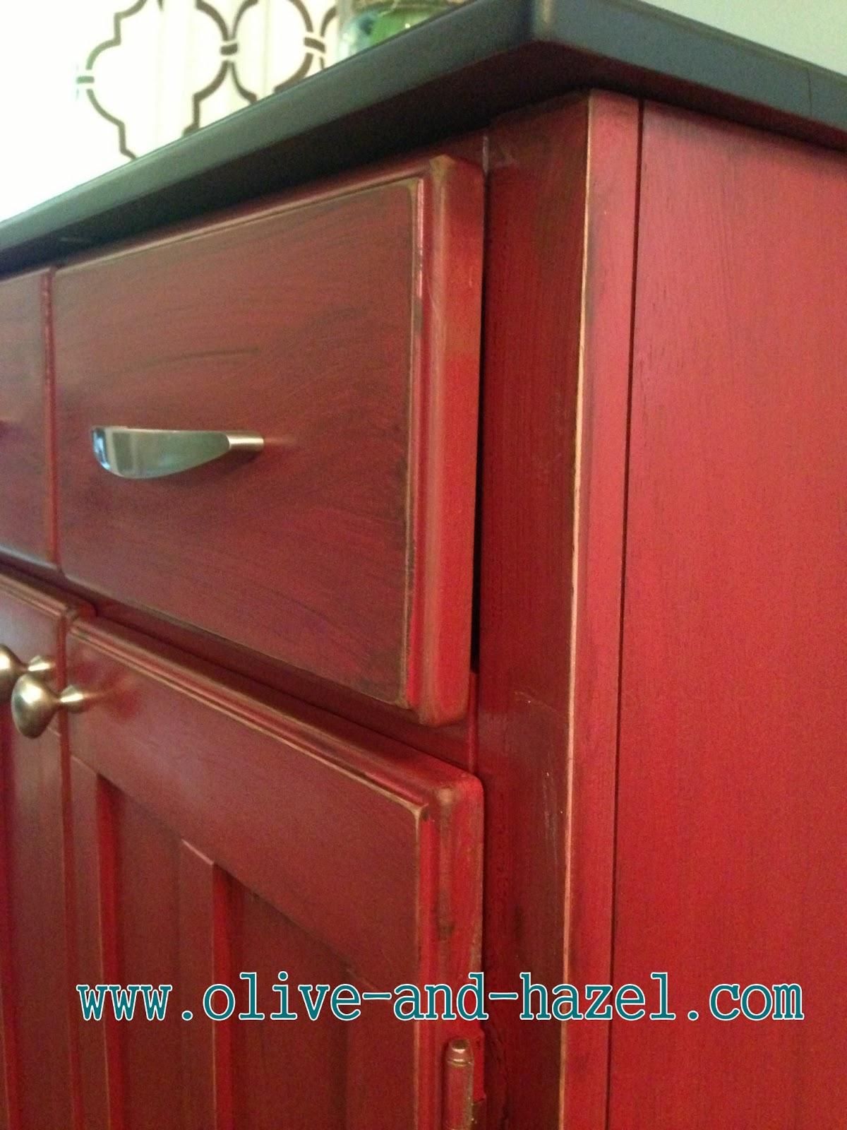 olive  hazel decor co Adorable Red Distressed Storage