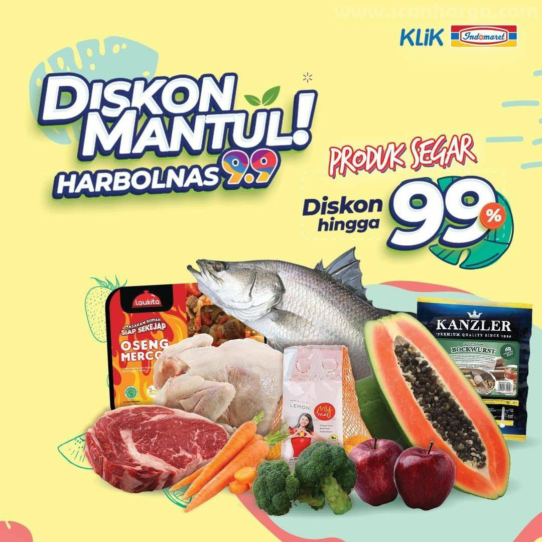 Promo KLIK INDOMARET Diskon Mantul Harbolnas 9.9 - Produk Segar Diskon hingga 99%