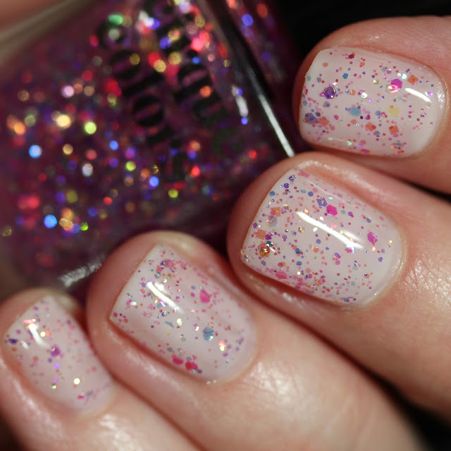 Cirque Colors Crystal Tokyo glitter topper review swatch