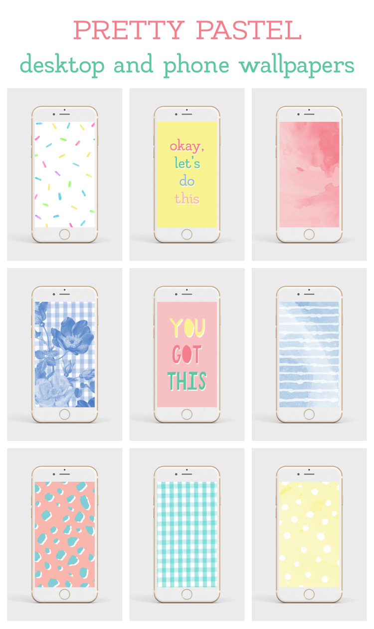 9 PRETTY PASTEL DESKTOP AND PHONE WALLPAPERS FOR SPRING.