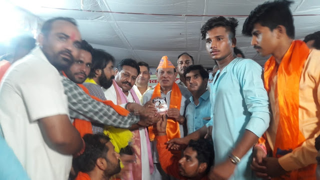 All India Brahmin Sabha conducts a grand welcome of MP Deep Vatsa