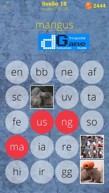 650 Parole soluzione livello 18 (1 - 25) | Parola e foto