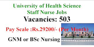 503 Staff Nurse Jobs in Baba Farid University of Health Science