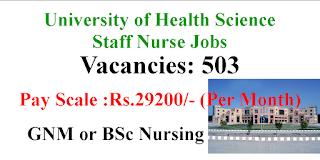503 Staff Nurse Jobs in Baba Farid University of Health Science