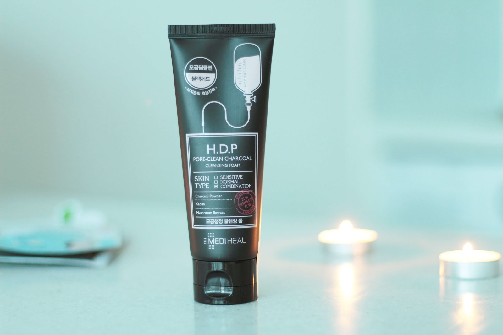 mediheal H.D.P pore-clean charcoal cleansing foam