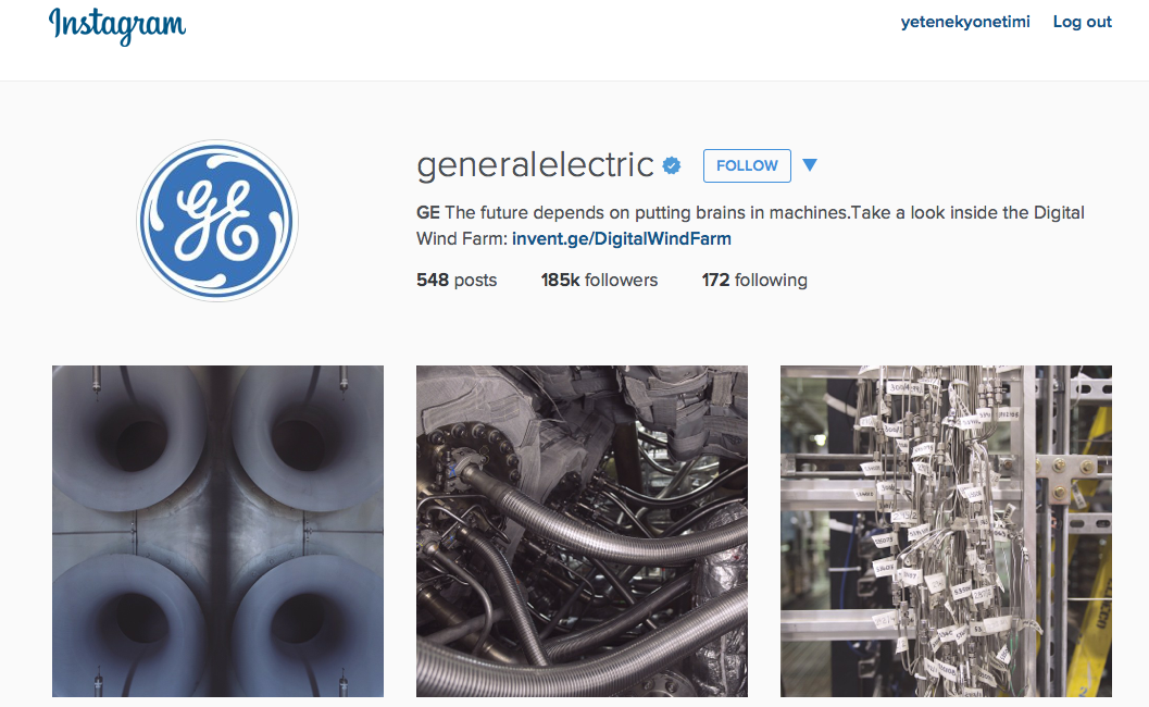 General Electric Instagram
