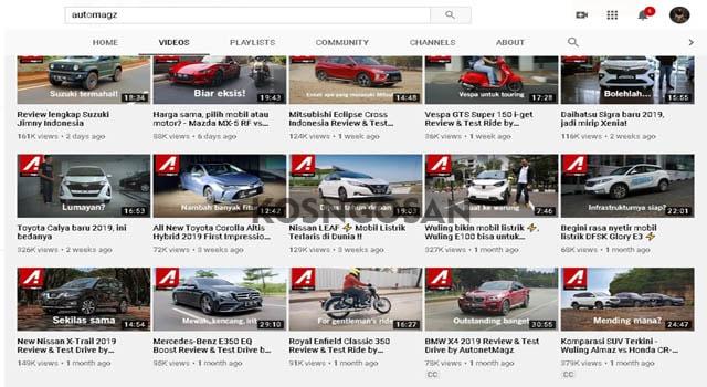 channel mobil terbaik