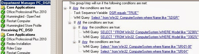 Using Nested Conditions in SCCM Task Sequence Step