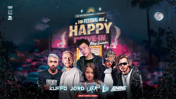 Happy Drive'In estreia com Liu, Jørd, Almanac, Zuffo, Cevith e Larinha