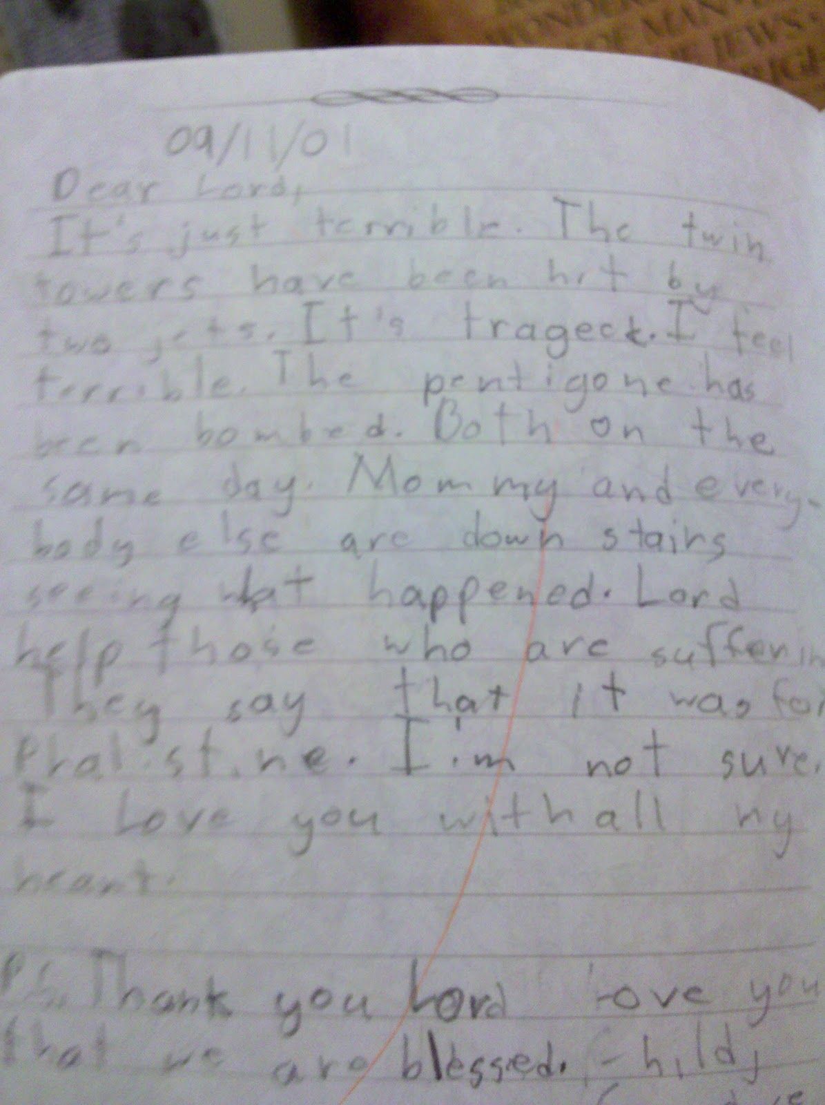 True Stories Journal Entries Letters Remembering 9 11