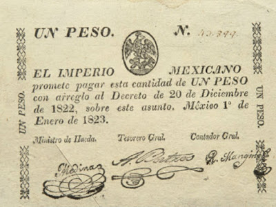 Historia primer billete México