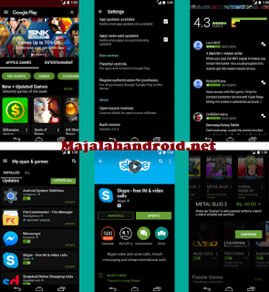 Google Playstore Mod Black Terbaru v6.1.12 For Android