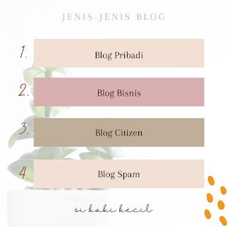 Pembagian jenis blog