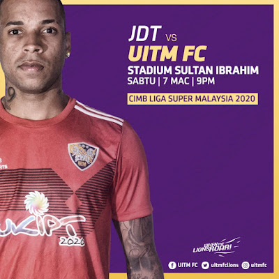 Live Streaming JDT vs Uitm FC Liga Super 7.3.2020