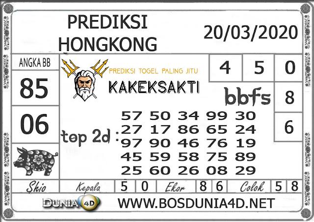 Prediksi Togel HONGKONG DUNIA4D 20 MARET 2020