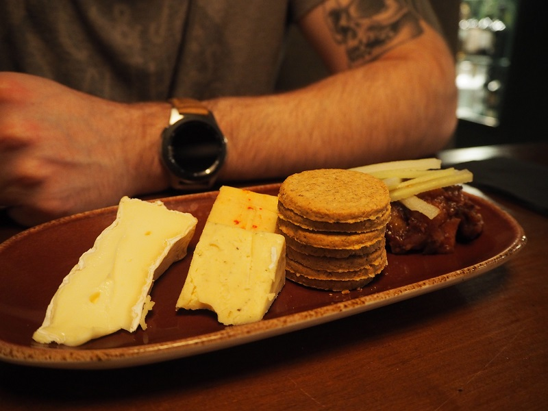 Trio of Scottish cheese with arran oatcakes and red onion chutney
