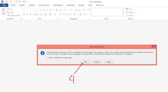 cara mengubah pdf ke word pakai ms word