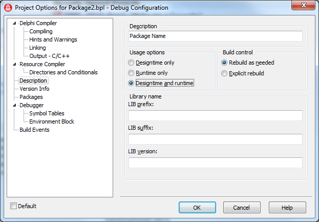 Rob's Technology Corner: Runtime/Designtime what? Delphi