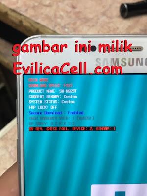 Check FAIL Device 2 Binary 1