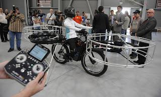 التحكم فى الدراجة الطائرة بريموت كنترول