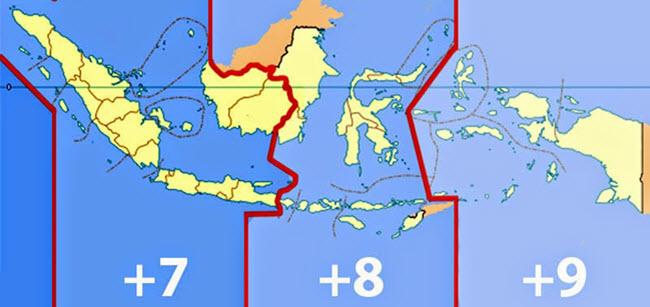 Daerah Waktu Indonesia