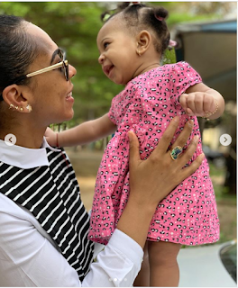 Former BBNaija star, TBoss shares adorable photos of self with daughter