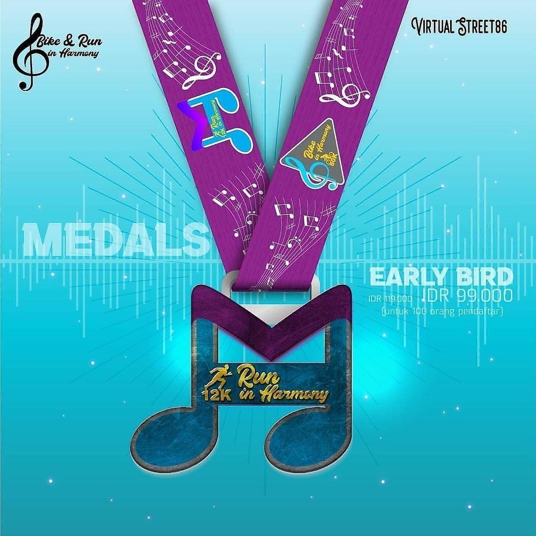 Run Medal � Virtual Run & Ride in Harmony • 2021