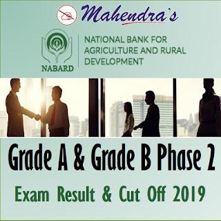 NABARD | Grade A and Grade B Phase 2 | Exam Result & Cut Off 2019