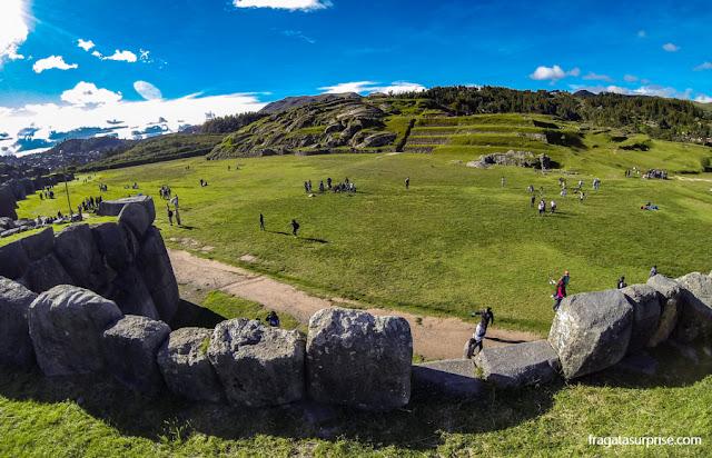 Sacsayhuaman, templo inca nos arredores de Cusco